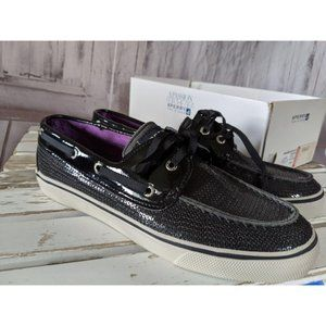 Sperry Women's Top Sider 9445545 Boat Shoes Black